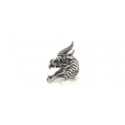 Men's Statement Dragon Sterling Silver Ring