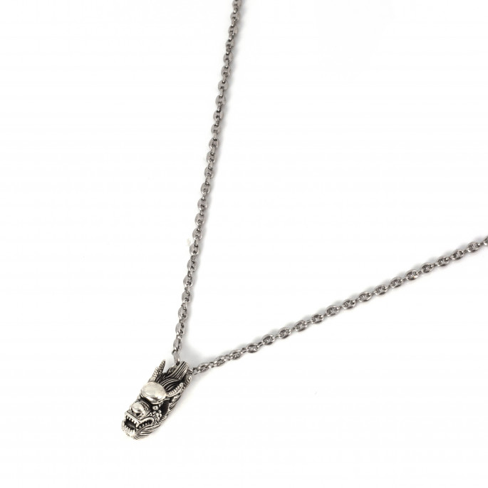 Sterling Silver Necklace | Dragon Pendant