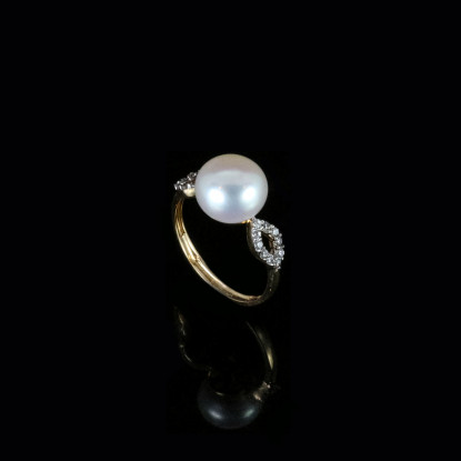 Déchirer Ring | Fresh Water Pearl | 18K Gold