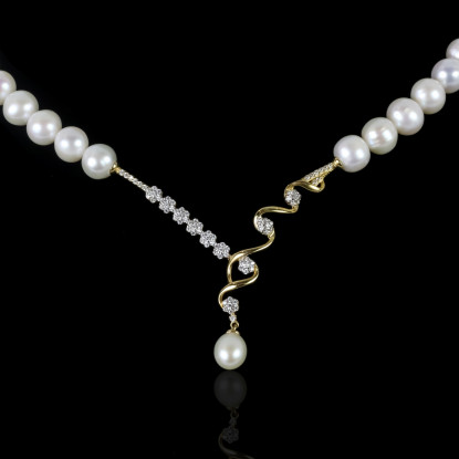 Royal Necklace | Fresh Water Pearl | 14K Gold