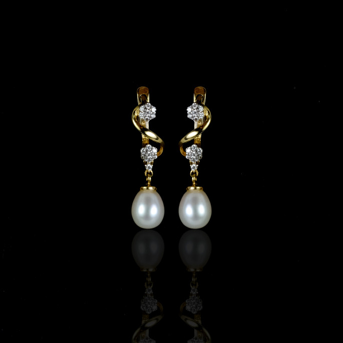 Royal Earring | Fresh Water Pearl | 14K Gold