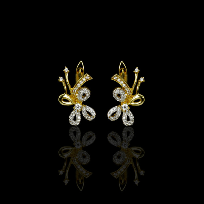 Fleurs Earrings | Fresh Water Pearls | 18K Gold