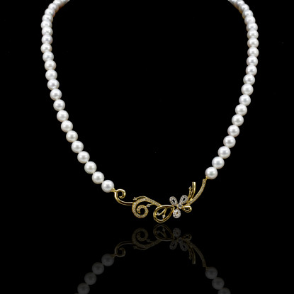 Fleurs Necklace | Fresh Water Pearl |18K Gold
