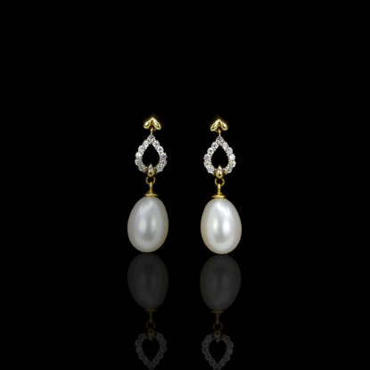 Cœur Earrings | Fresh Water Pearls | 18K Gold