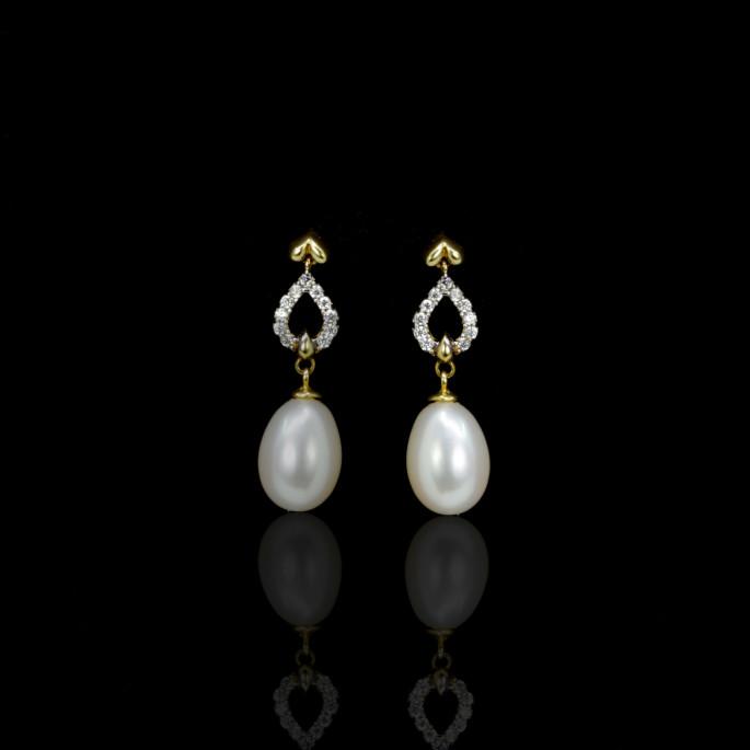 Cœur Earrings | Fresh Water Pearls | 18K Gold