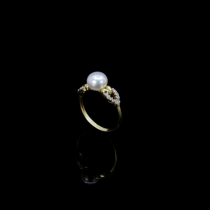 Cœur Ring | Fresh Water Pearls | 18K Gold