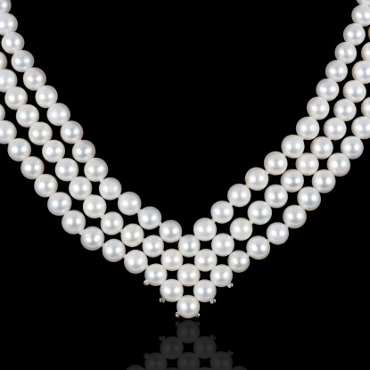 Lignes Necklace | Fresh Water Pearls | Silver 925