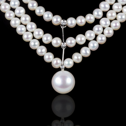 Lumière Necklace | Fresh Water Pearls | Silver 925