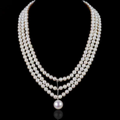 Coquille Necklace | Fresh Water Pearls | Silver 925