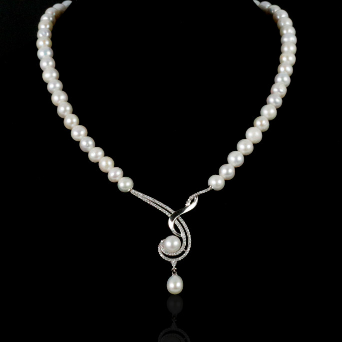 La Musique Necklace | Fresh Water Pearls | 14K Gold