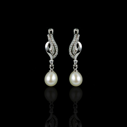 La Musique Earrings | Fresh Water Pearls | 14K Gold