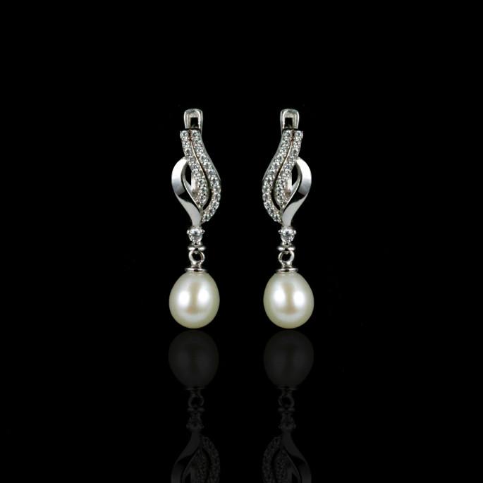 La Musique Earrings | Fresh Water Pearls | 14K Gold