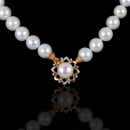 Le Soleil Necklace | Fresh Water Pearls | 18K Gold