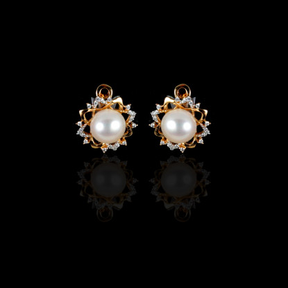 Le Soleil Earrings | Fresh Water Pearls | 18K Gold