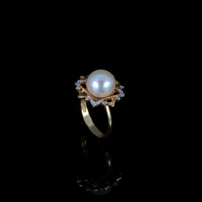 Le Soleil Ring | Fresh Water Pearls | 18K Gold