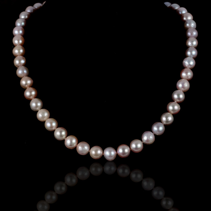 Rose Signature Necklace | Fresh Water Pearls | Silver 925
