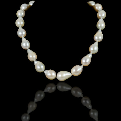 Chic Baroque Necklace |Fresh Water Pearls | Silver 925