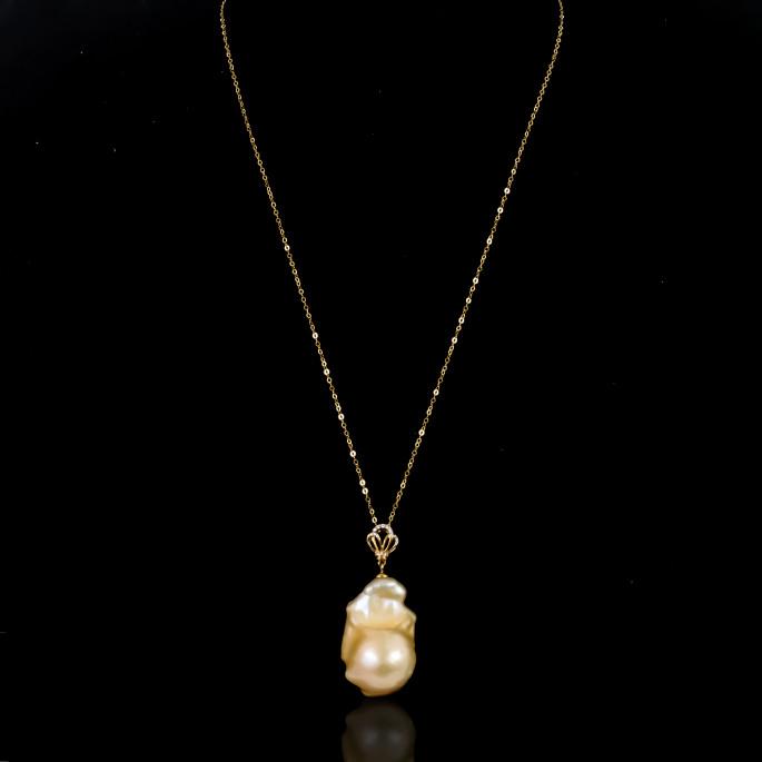 Reine Necklace | Fresh Water Pearl | 18K Gold