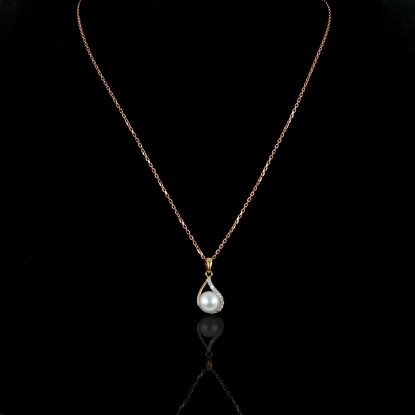 La Flamme Necklace | Fresh Water Pearl | 18K Gold
