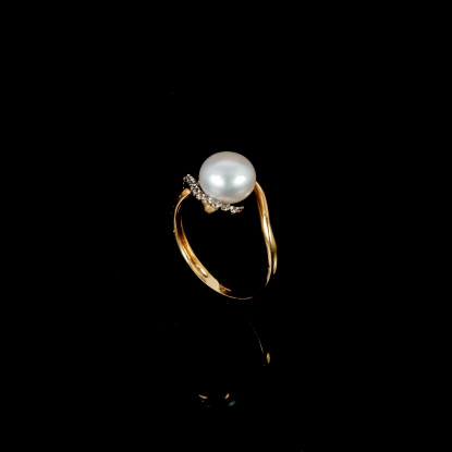 La Flamme Ring | Fresh Water Pearls | 18K Gold