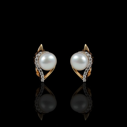 La Flamme Earrings | Fresh Water Pearl | 18K Gold