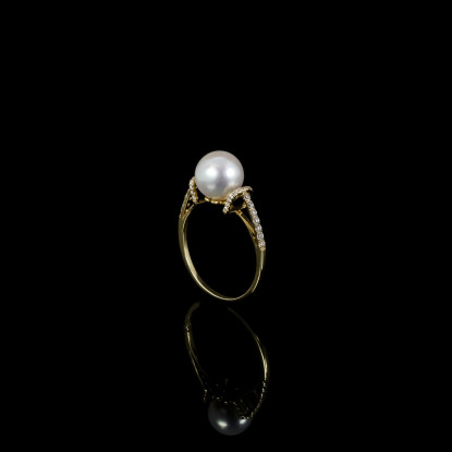 Suprême Elegance Ring| Fresh Water Pearls | 14K Gold