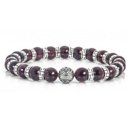 Sparkling Garnet Beaded Bracelet | Sterling Silver Jewelry | Claret Gemstones