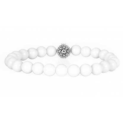 Festive White Quartz | Beaded Bracelet | White Gemstones