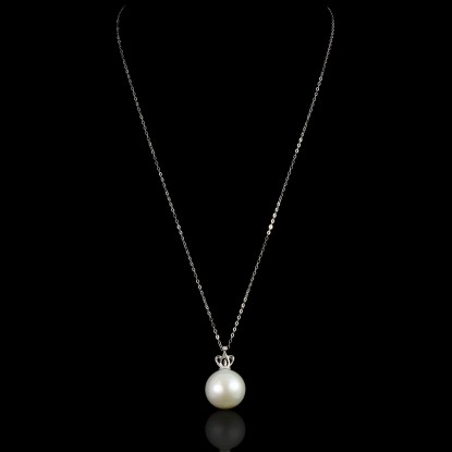 Couronne Necklace | Fresh Water Pearl |18K White Gold