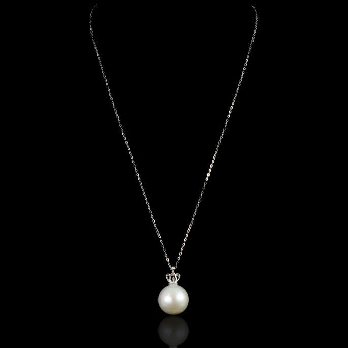 Couronne Necklace | Fresh Water Pearl |18K Gold