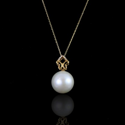Coulisses Necklace | Fresh Water Pearl | 14K Gold