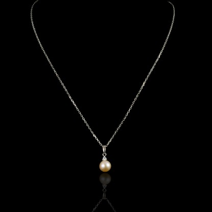Classic Necklace | Fresh Water Pearl |18K White Gold