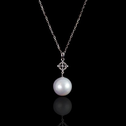 Croix Necklace |Fresh Water Pearl | 18K Gold