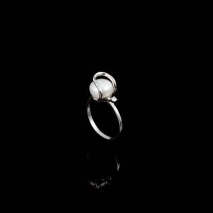 Amour Ring | Fresh Water Pearl | 14K Gold