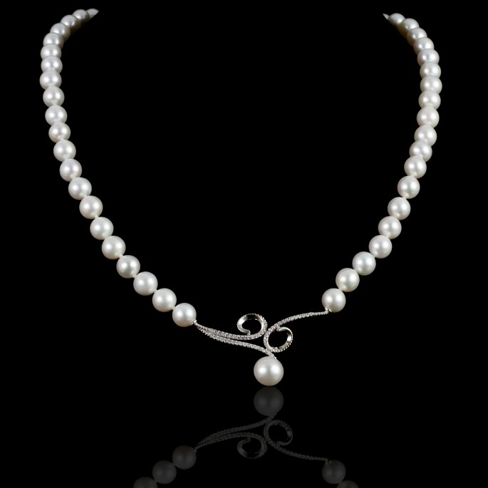 Infini Necklace | Fresh Water Pearls | 18K Gold