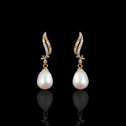 Sirène Earrings | Fresh Water Pearls | Rose Gold 18K
