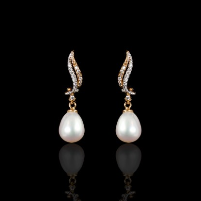 Sirène Earrings | Fresh Water Pearls | Rose Gold 18K