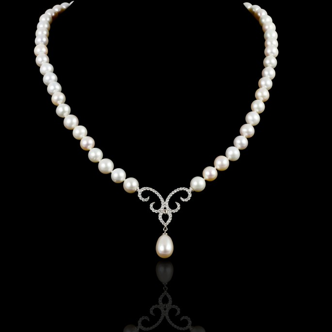 Piques Necklace | Fresh Water Pearls | 18K Gold