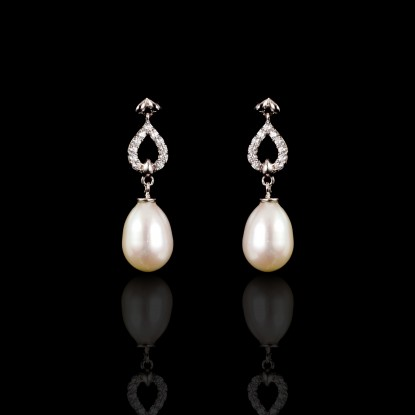 Piques Earrings | Fresh Water Pearls | 18K Gold