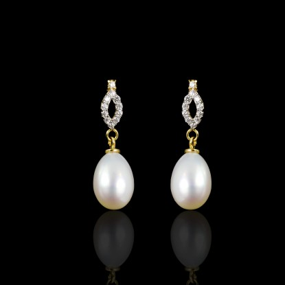 Étoile Earrings| Fresh Water Pearls | 18K Gold