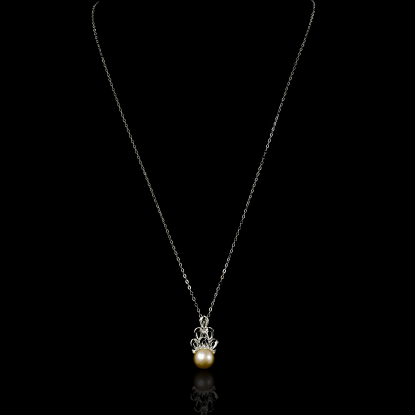 Corail Necklace |Fresh Water Pearl |18K White Gold