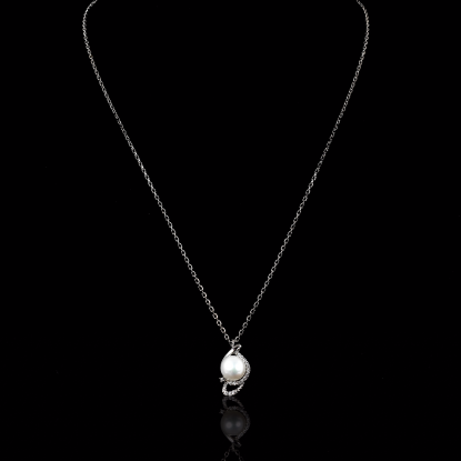 Yeux Necklace |Fresh Water Pearl |18K White Gold
