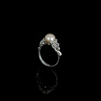Corail Ring| Fresh Water Pearls | 18K White Gold