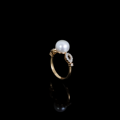 Déchirer Ring | Fresh Water Pearl | 18K Rose Gold