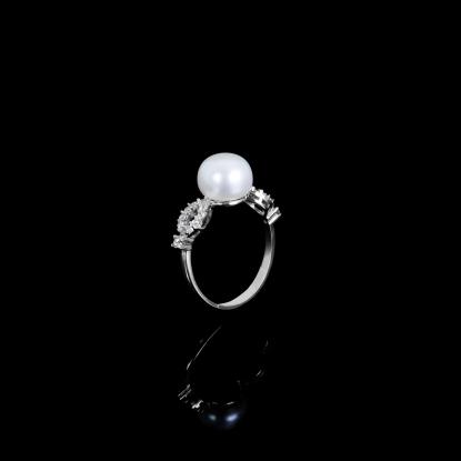 Étoile Ring  Fresh Water Pearls   18K White Gold