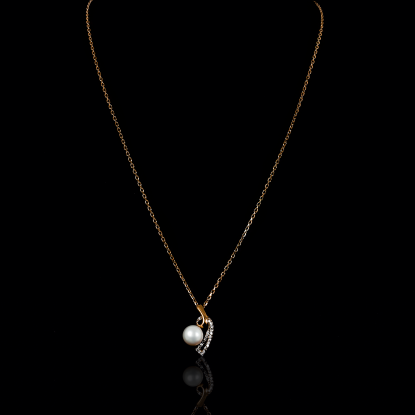 Demicoeur Necklace | Fresh Water Pearl | 18K Rose Gold