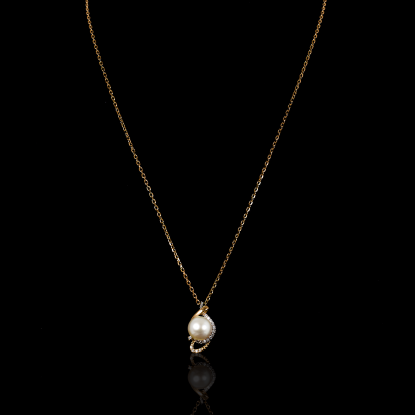 Yeux Necklace |Fresh Water Pearl |18K Rose Gold