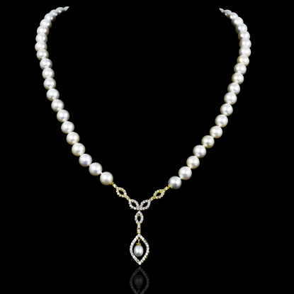 Déchirer Necklace | Fresh Water Pearl | 18K Gold