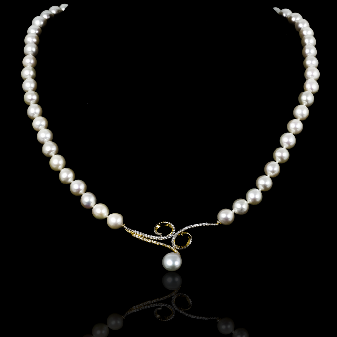 Sirène Necklace | Fresh Water Pearls | 18K Gold