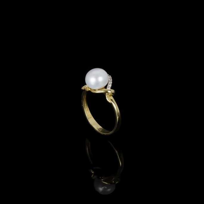 Yeux Ring | Fresh Water Pearl | 18K Gold|